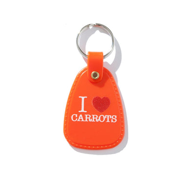 I LOVE CARROTS KEYCHAIN, ORANGE