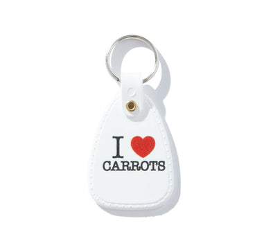 I LOVE CARROTS KEYCHAIN, WHITE