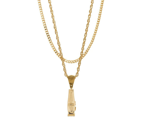 MISTER CLIPPER NECKLACE, GOLD