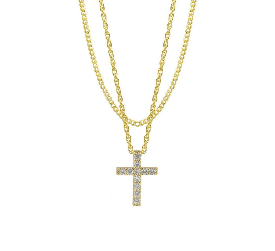 MISTER CRUCIS NECKLACE, GOLD
