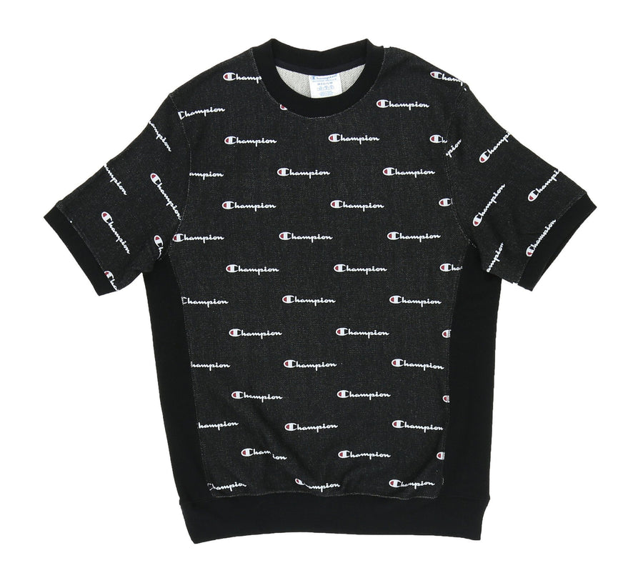 CHAMPION SCRIPT REVERSE WEAVE FRENCH TERRY CREW