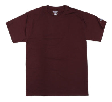 CHAMPION TAGLESS TEE, MAROON