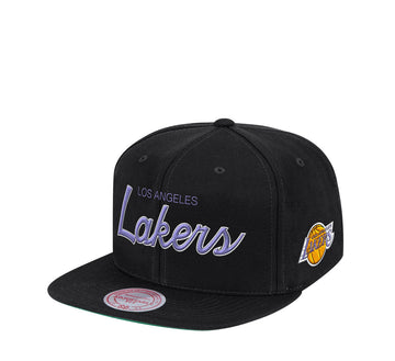 LOS ANGELES LAKERS FOUNDATION SCRIPT SNAPBACK HWC