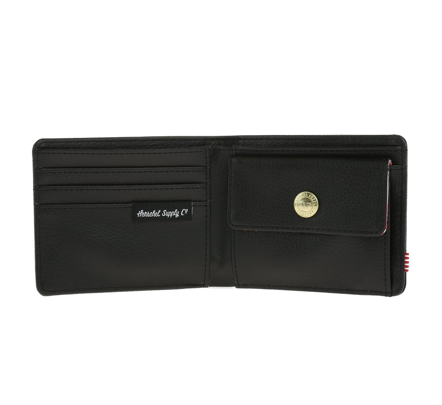 HANK PL LEATHER COIN WALLET, BLACK