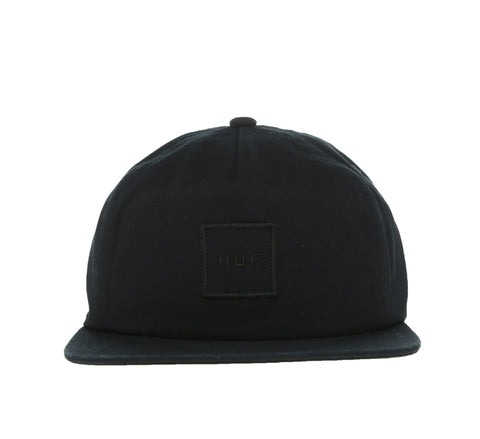 GARMENT WASH BOX LOGO SNAPBACK, BLACK
