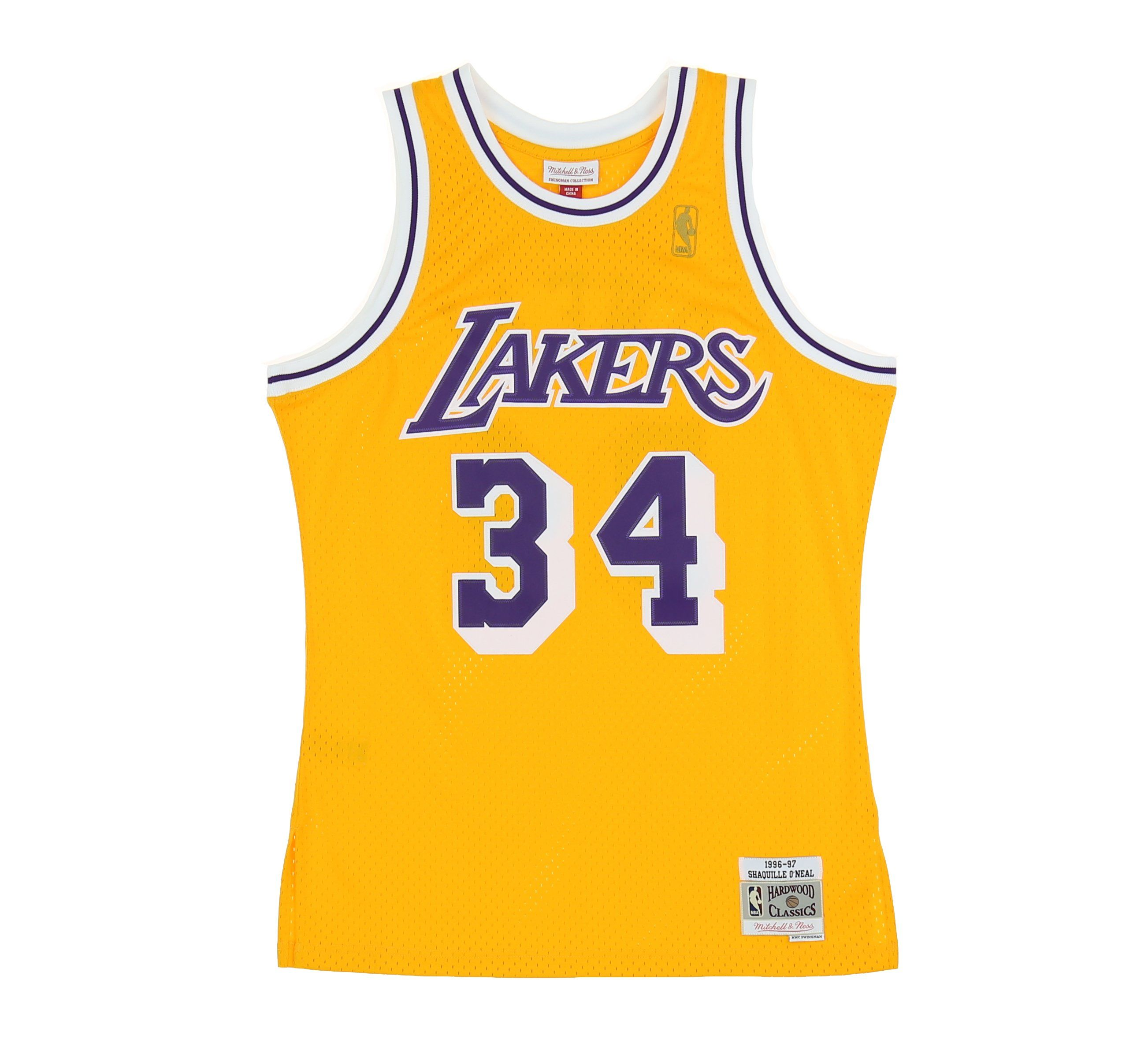 cb0128b7d57099 LOS ANGELES LAKERS SHAQUILLE O NEAL  34 SWINGMAN JERSEY – SHOPATKINGS