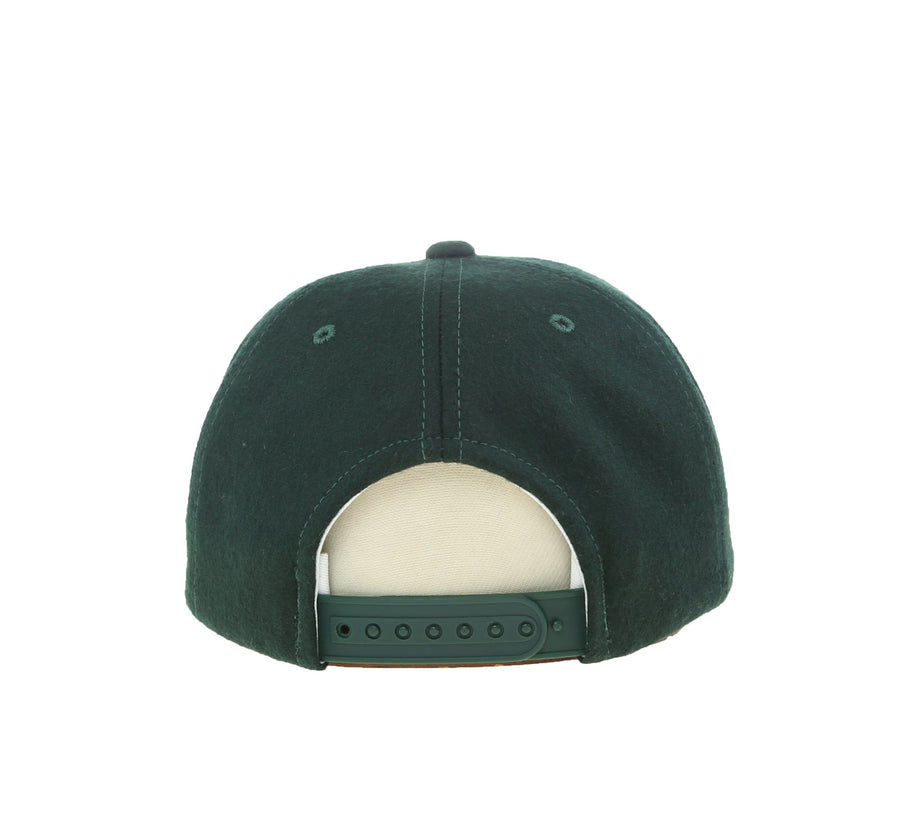 KINGS DOT WOOL SNAPBACK, FOREST GREEN