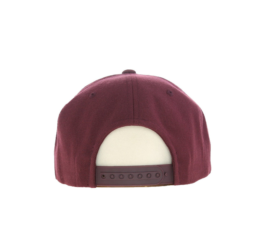 KINGS K SNAPBACK, BURGUNDY/YELLOW