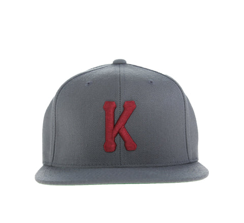 KINGS K SNAPBACK, CHARCOAL/BURGUNDY