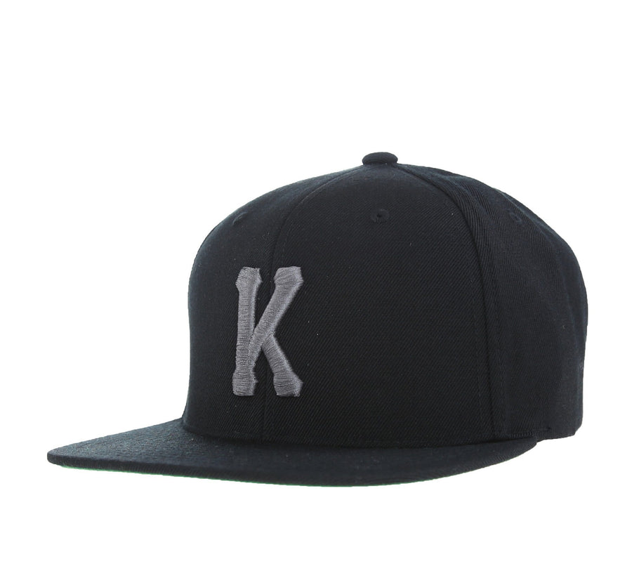 KINGS K SNAPBACK, BLACK/BLACK
