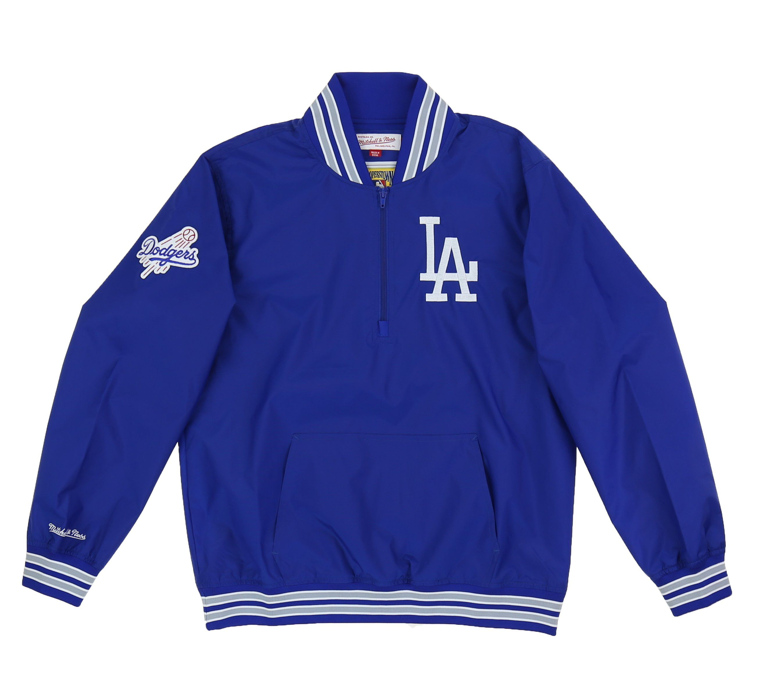 Los Angeles Dodgers 14 Zip Nylon Pullover Shopatkings