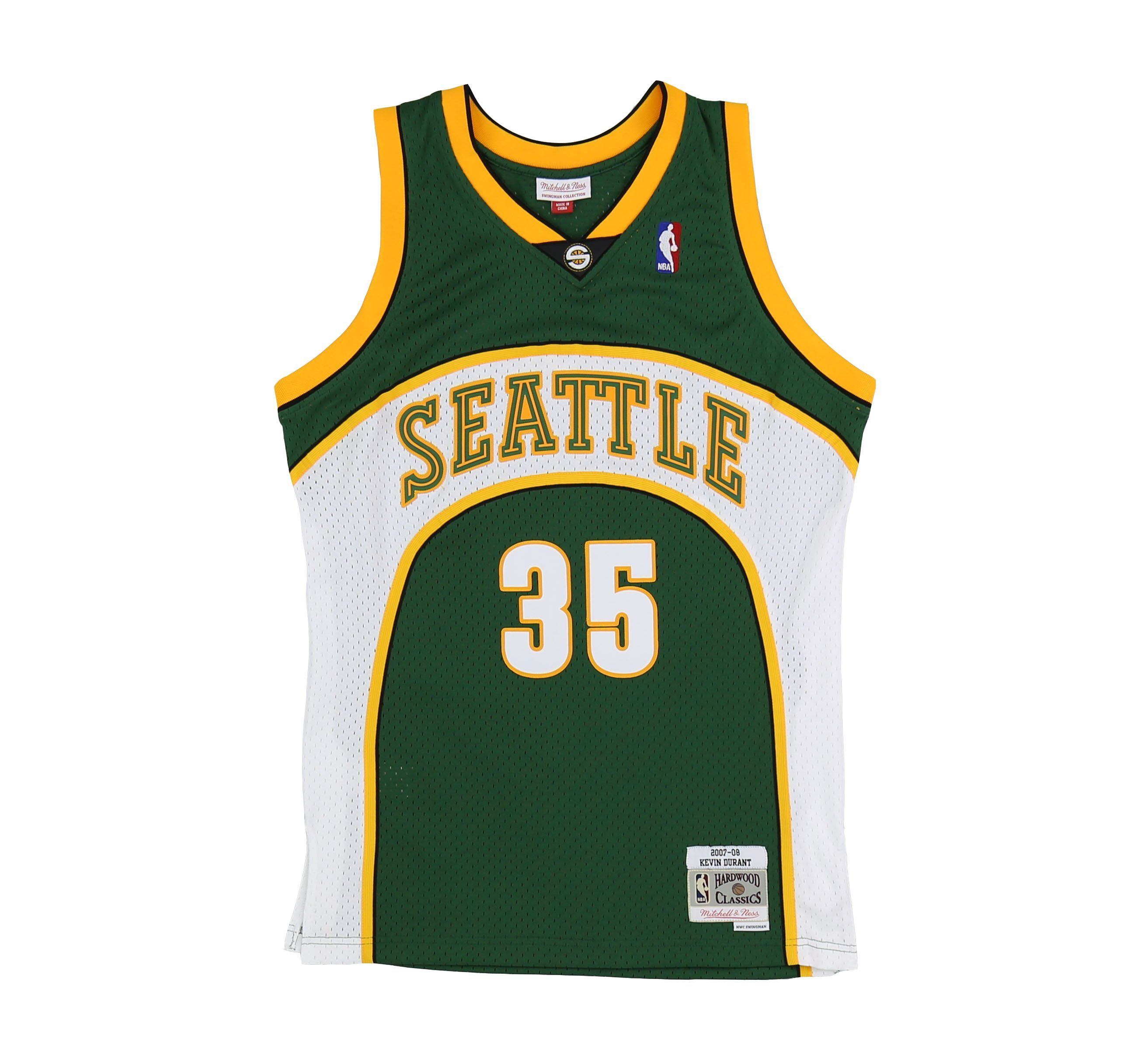 SEATTLE SUPERSONICS KEVIN DURANT  35 SWINGMAN JERSEY. MITCHELL   NESS 37bc08d20