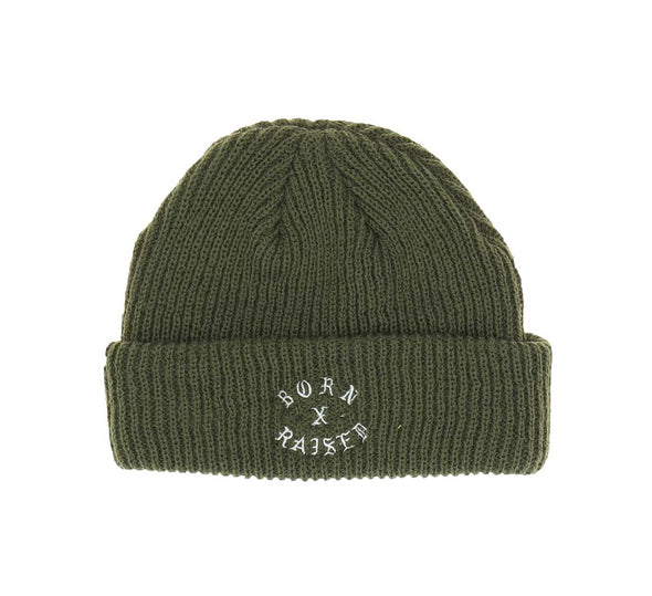 ROCKER BEANIE, MILITARY GREEN