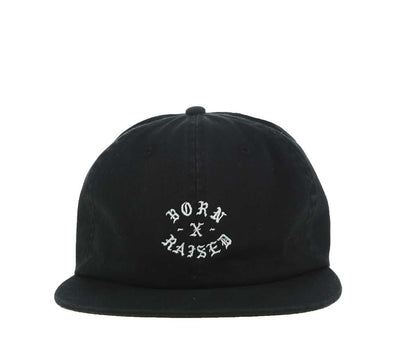 ROCKER STRAP BACK, BLACK