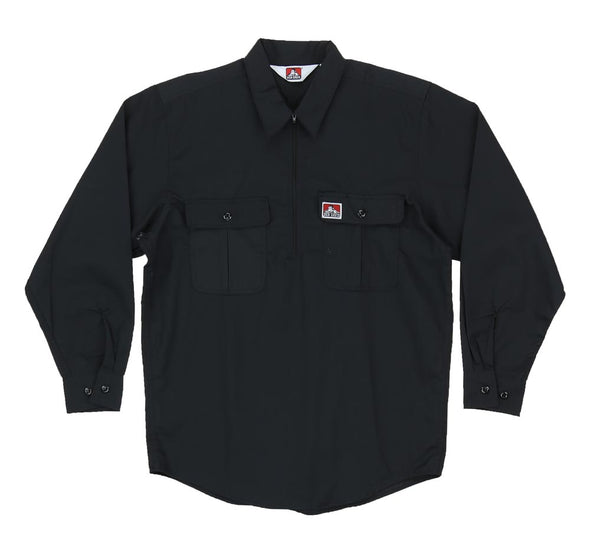 1/2 ZIP BUTTON POCKET LONG SLEEVE
