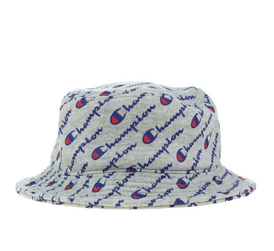 REVERSE WEAVE ALL OVER PRINT BUCKET HAT, OXFORD GREY