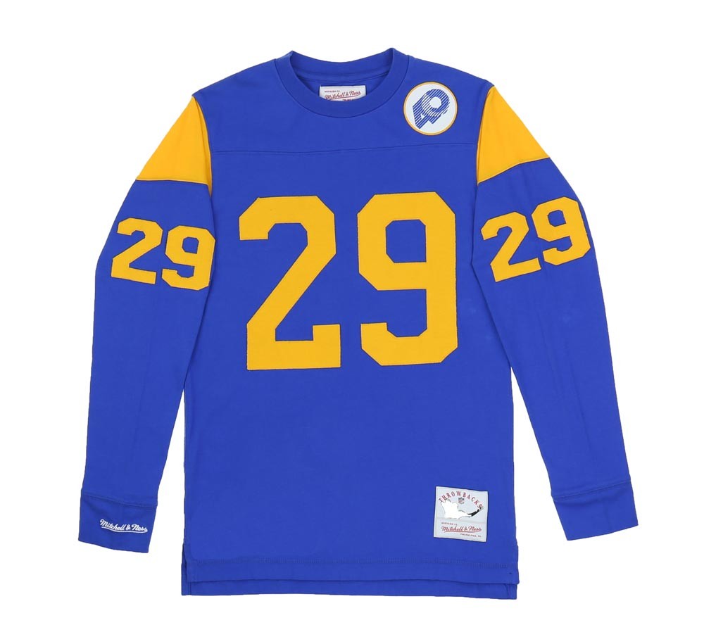 new product fa022 b23f3 ERIC DICKERSON 1985 LOS ANGELES RAMS KNIT LONG SLEEVE -