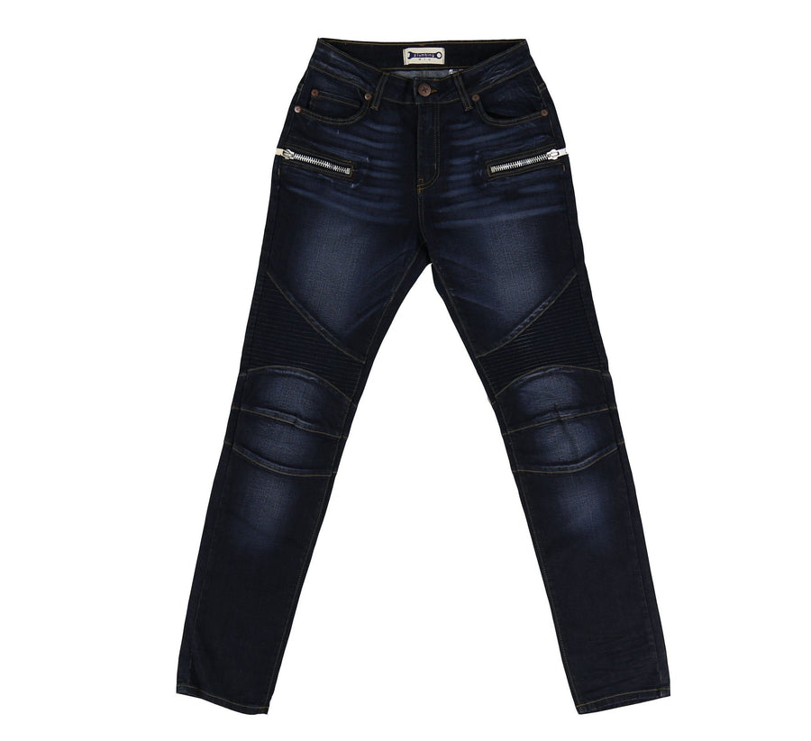 3D BAKED MOTO JEANS