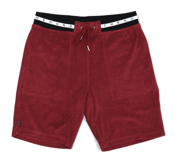 POOL SHORT, BURGUNDY