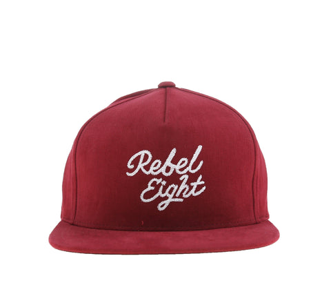 ROSE AND DAGGER SNAPBACK, BURGUNDY