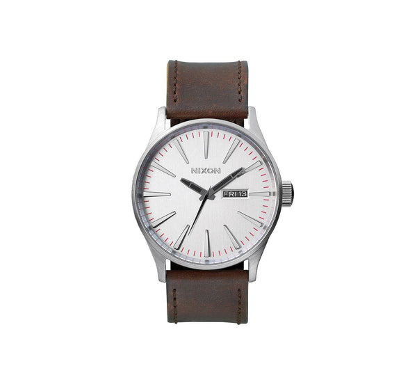 SENTRY LEATHER SILVER/BROWN