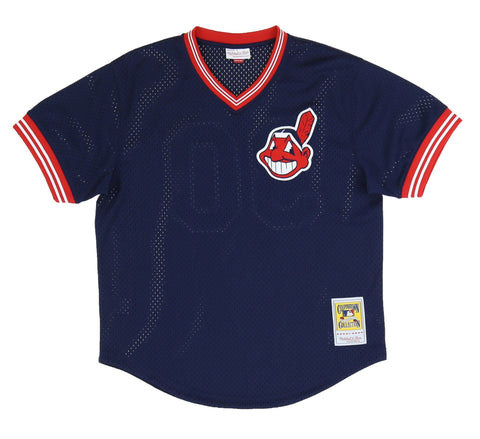 CLEVELAND INDIANS AUTHENTIC MESH BATTING PRACTICE JERSEY