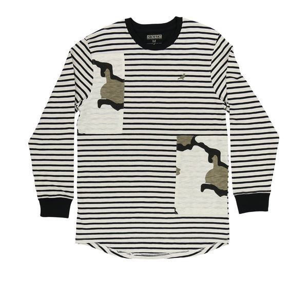 AMBUSH STRIPED L/S TEE