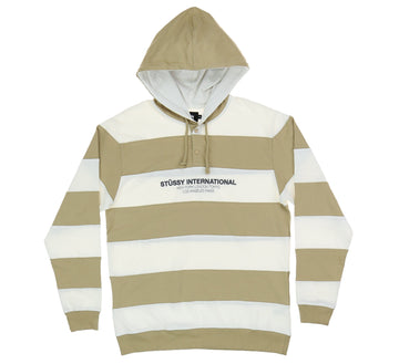 HOODED STRIPE RUGBY