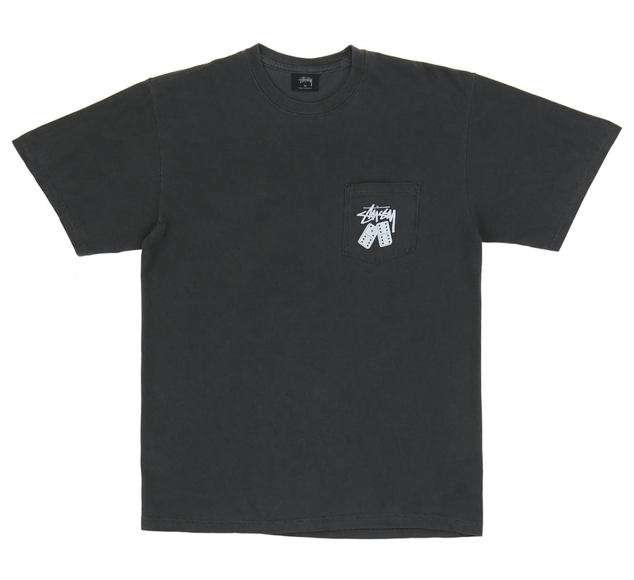 DOMINOS PIGMENT DYED POCKET TEE