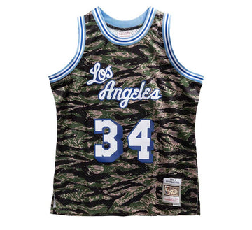 LOS ANGELES LAKERS TIGER CAMO SWINGMAN JERSEY-SHAQUILLE O'NEAL