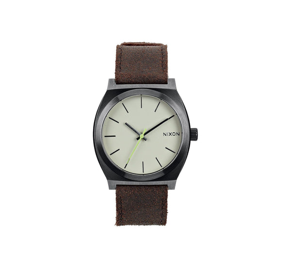 TIME TELLER GUNMETAL/BROWN