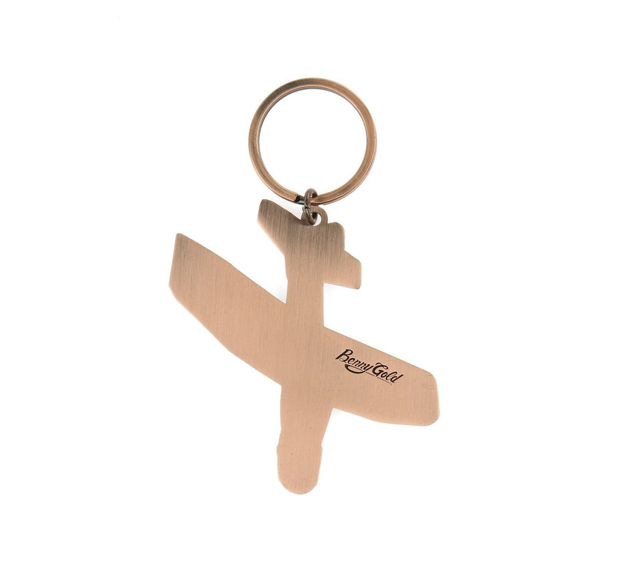 METAL GLIDER KEYCHAIN, COPPER