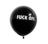 FUCK OFF BALLOONS (10 PACK), BLACK