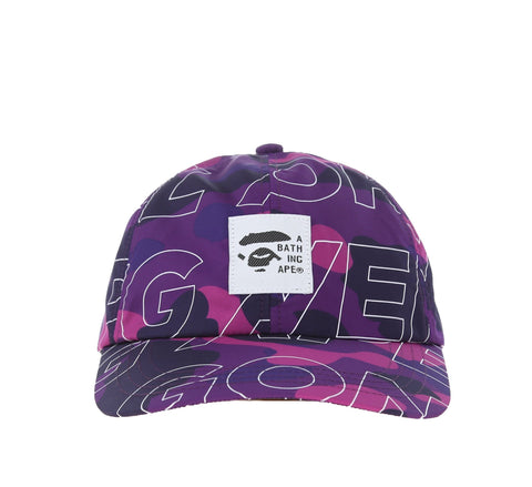 TEXT COLOR CAMO CAP, PURPLE