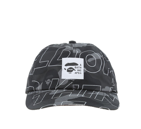 TEXT COLOR CAMO CAP, BLACK