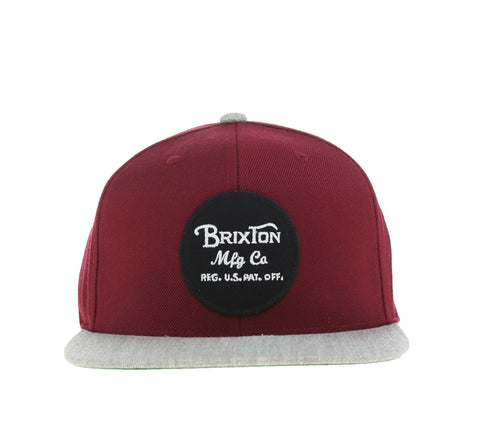 WHEELER SNAPBACK, BURGUNDY/HEATHER GREY