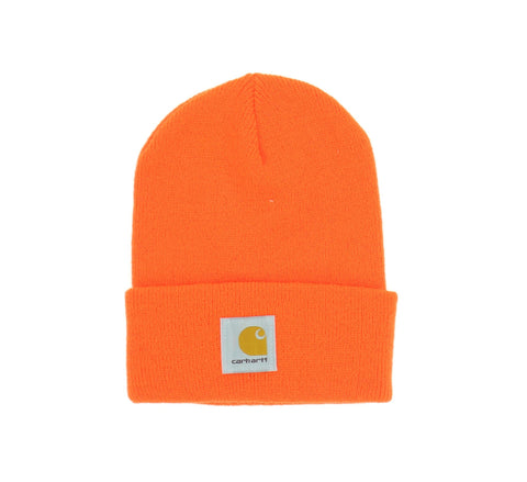 ACRYLIC WATCH HAT, BRIGHT ORANGE