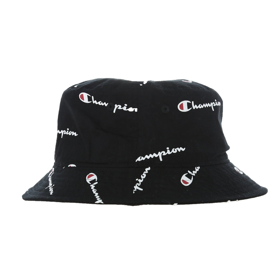 ALL OVER PRINT BUCKET HAT, BLACK