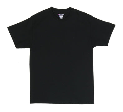 CHAMPION TAGLESS TEE, BLACK