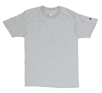 CHAMPION TAGLESS TEE, LIGHT STEEL