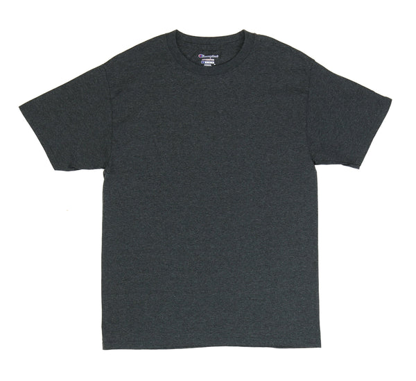 CHAMPION TAGLESS TEE, CHARCOAL HEATHER
