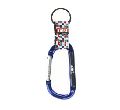 CHUMS X KINGS CARABINER KEYCHAIN, CHECKERBOARD