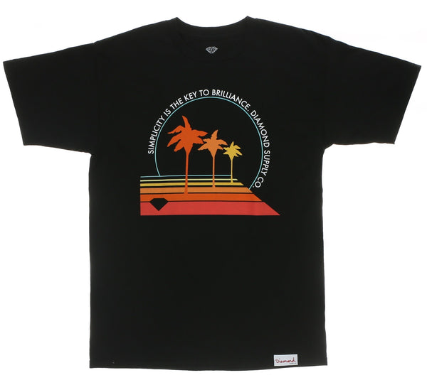 PALM VIBES TEE, BLACK