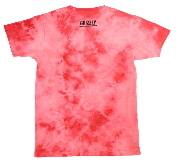 BAD NEWS TONAL TIE-DYE TEE, INFRARED