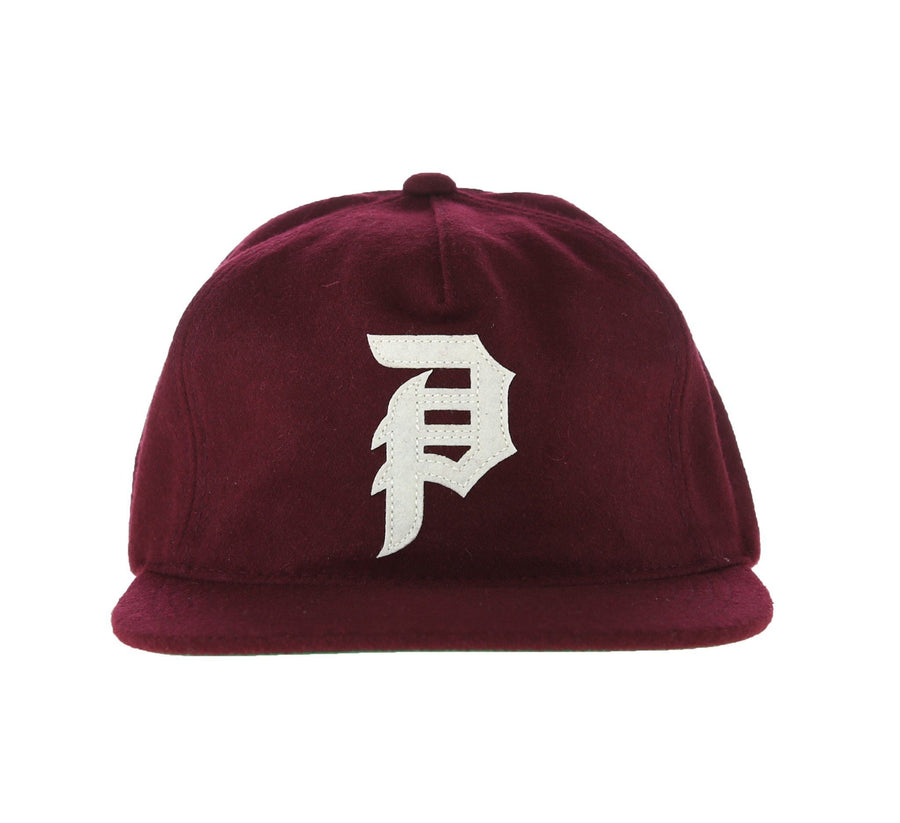 DIRTY P STRAPBACK, BURGUNDY