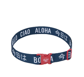 LUGGAGE BELT, NAVY/RED