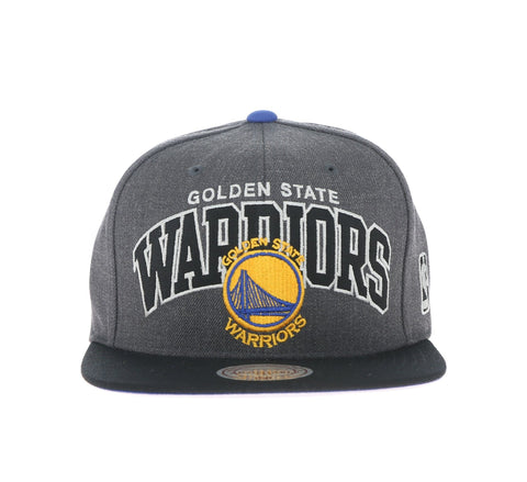 GOLDEN STATE WARRIORS SNAPBACK, CHARCOAL/BLACK