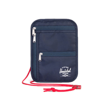 MONEY POUCH, NAVY/RED
