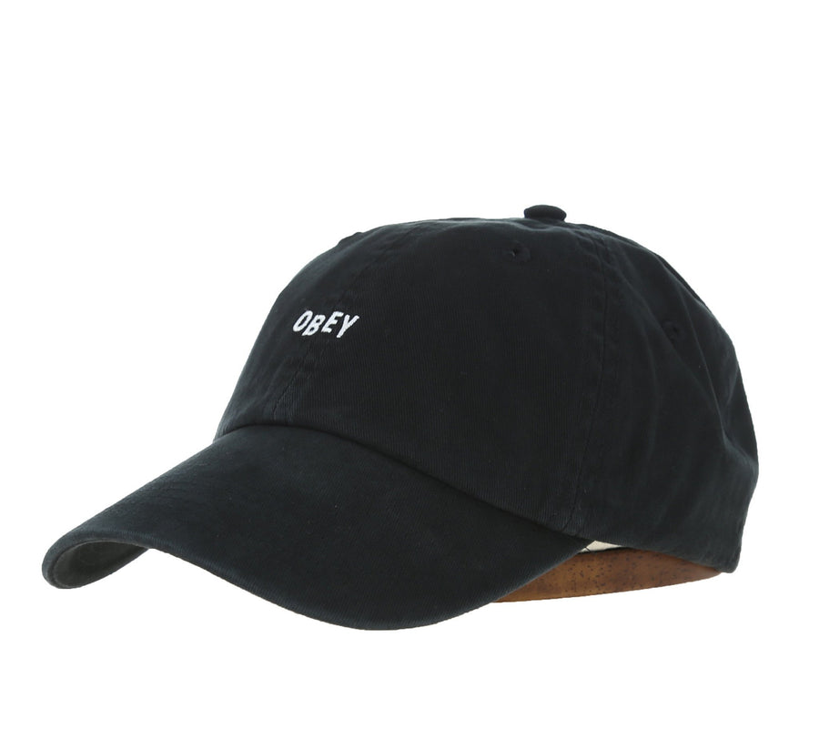 JUMBLE BAR HAT II 6 PANEL HAT, BLACK