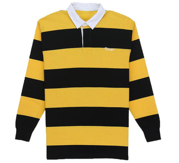 KINGS SCRIPT STRIPED RUGBY POLO